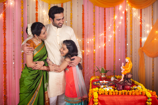 An Indian family hugging each other - Strong family bond and relation
