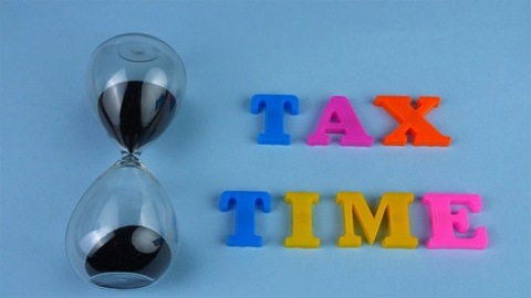 Tax Time - Tilt shot of a notification or a reminder to file tax returns in India