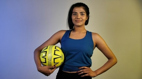 Young woman from Indian woman football team - Soccer player from India