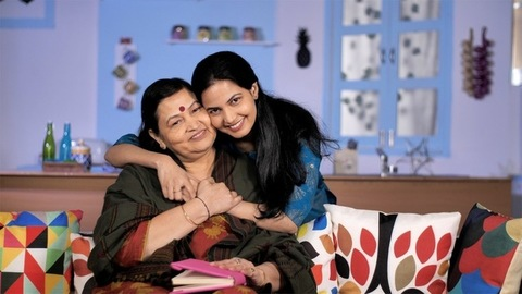 Happy two generations of women embracing each other - togetherness and bonding