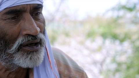 Old man from rural India wearing a Safa