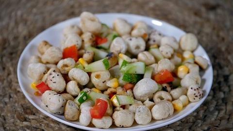Fox nut salad - tasty and healthy Indian food