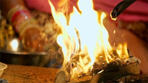 Stock footage of Indian wedding ritual