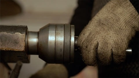 Closeup Shot of an Industrial worker operating machine industry