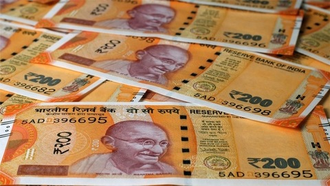 Slow motion view of indian currency