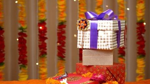Beautifully placed Raksha Bandhan items for the festival celebrations - festive season