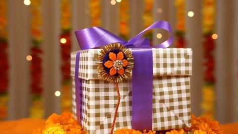 Closeup shot of a handmade rakhi on the occasion of Raksha Bandhan - traditional festival