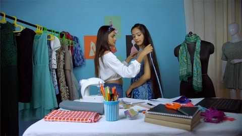 Indian businesswoman dealing with her customer at her fashion retail store