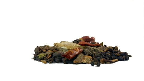 Various Indian raw spices on white background used in Indian kitchens